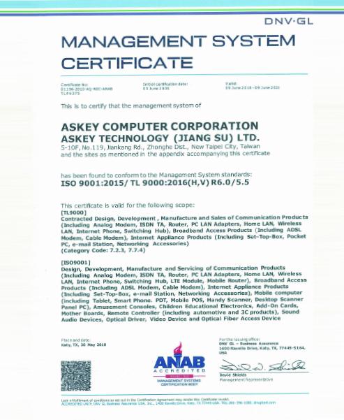 TL9000/ISO 9001